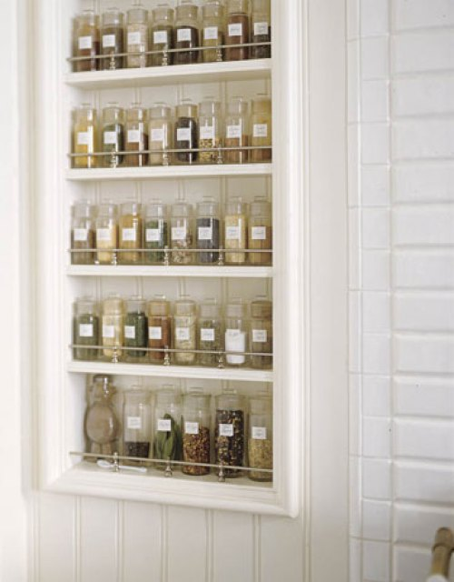 wall mounted spice rack metal