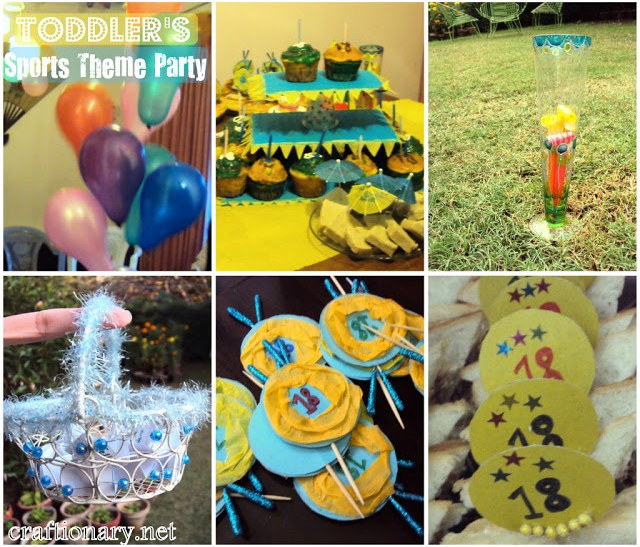 toddlers sports theme party