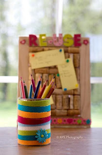 DIY-recycling-tin-cans-pencil-holder