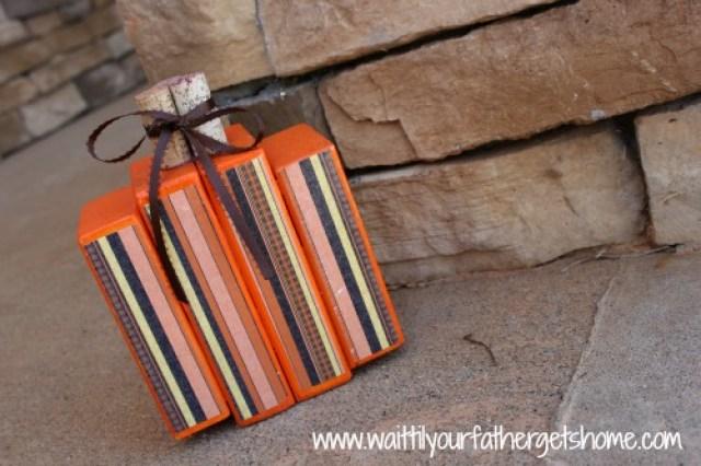 wooden blocks pumpkin