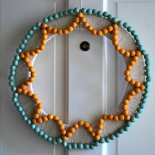 beads wreath gift idea