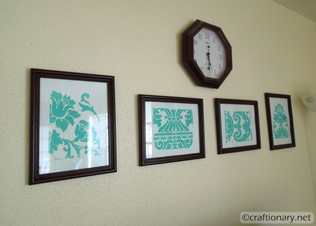 stencil painted frames 2