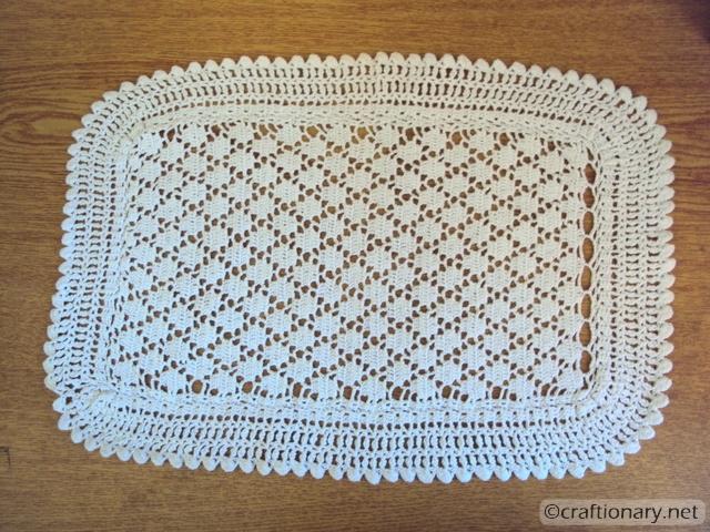 crochet mat decoupage tray mod podge