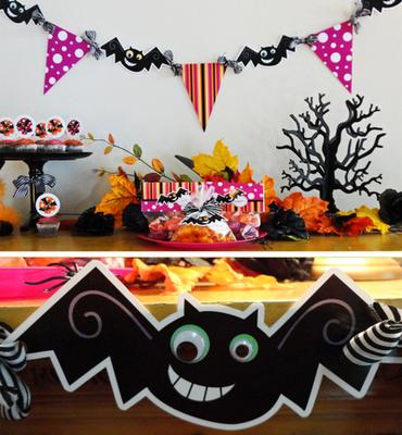 halloween bats banner free printable