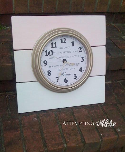 pallet clock art