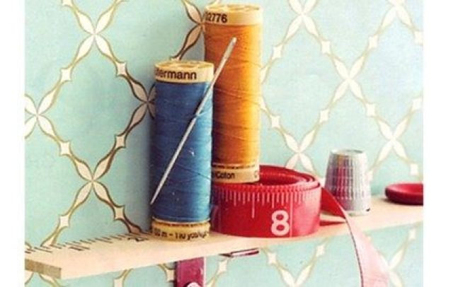 mini yard stick shelf organizer