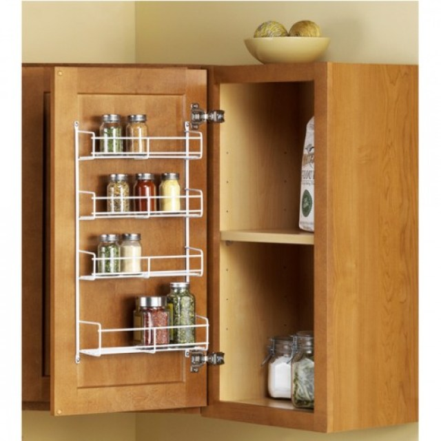wall mounted spice racks wooden