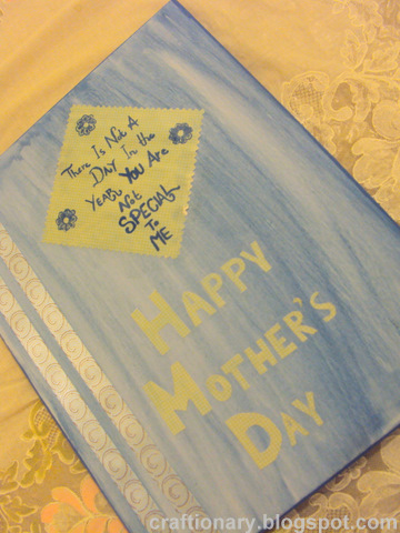 mothers decoupage canvas