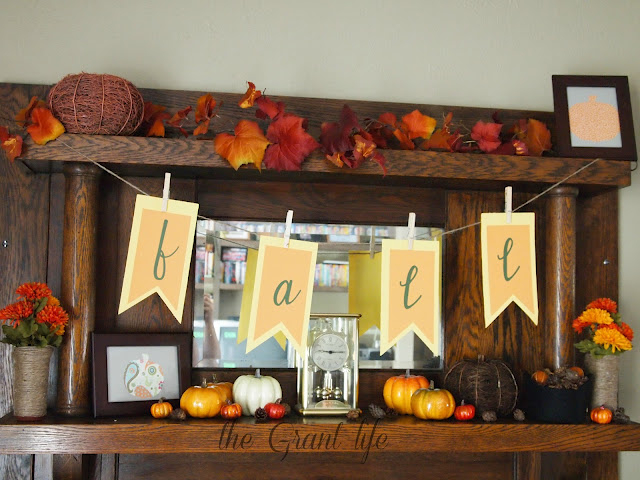 Fall autumn mantel