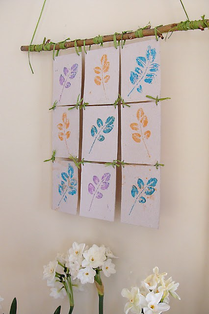 stamp-pad-leaf-printing-hanging-wall-decoration