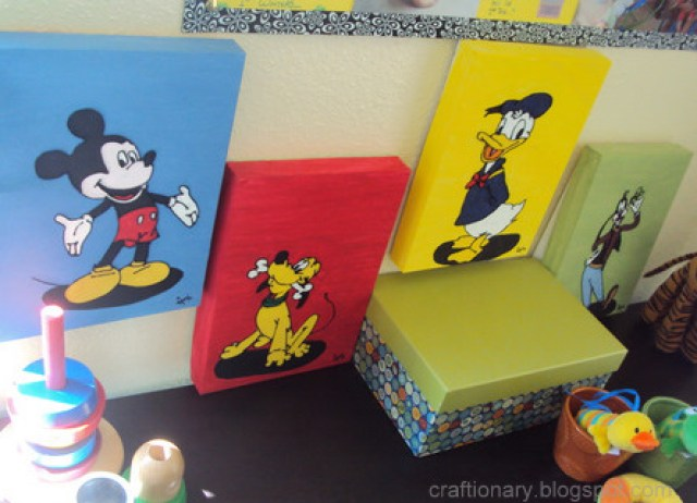 disneys kids room wall art