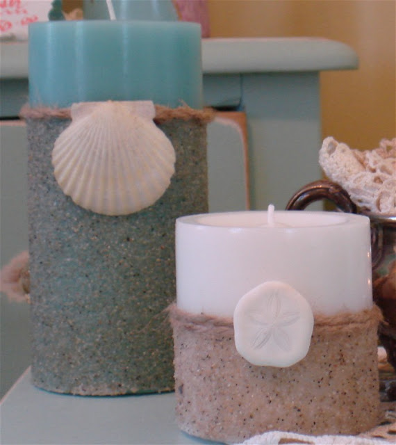 decorating candles using sand tutorial