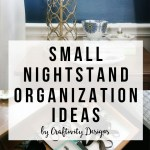 Small Nightstand Organization Craftivity Designs