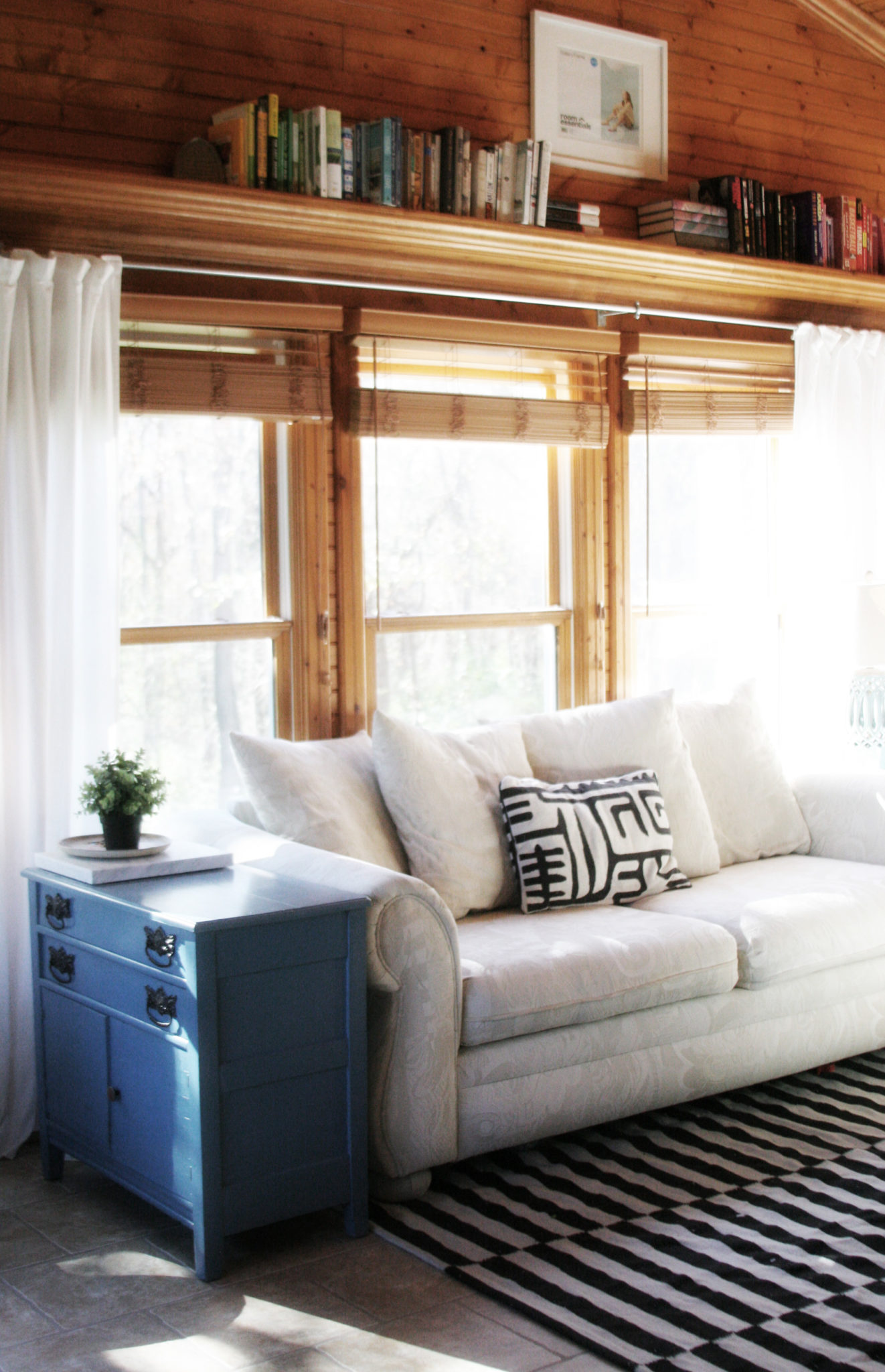 how to make long curtain rods for