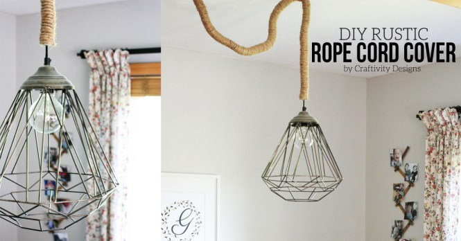 10 Diy Rustic Lights Using Rope Cord Cover By Craftivtyd