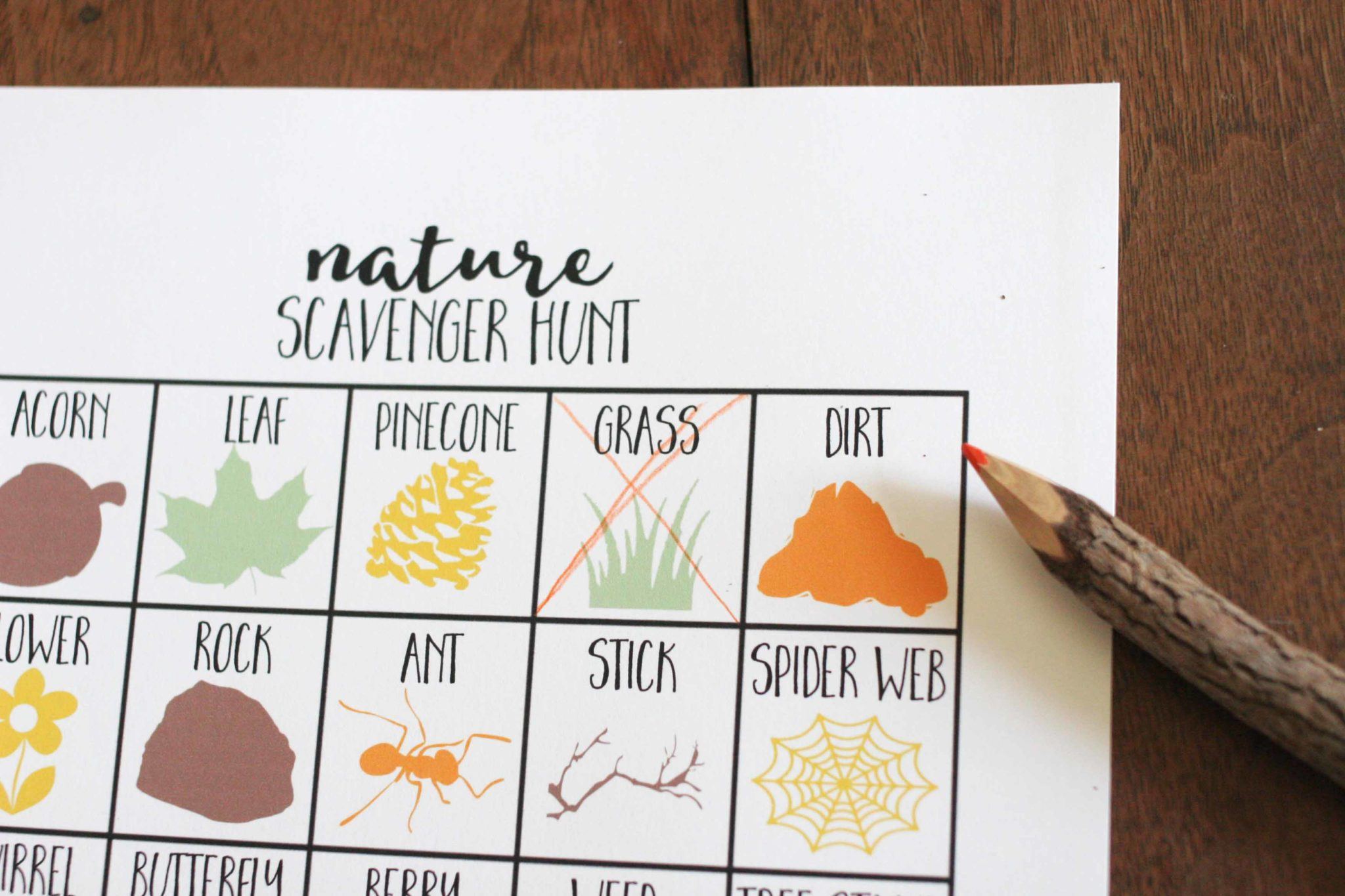 Nature Scavenger Hunt For Kids Craftivity Designs