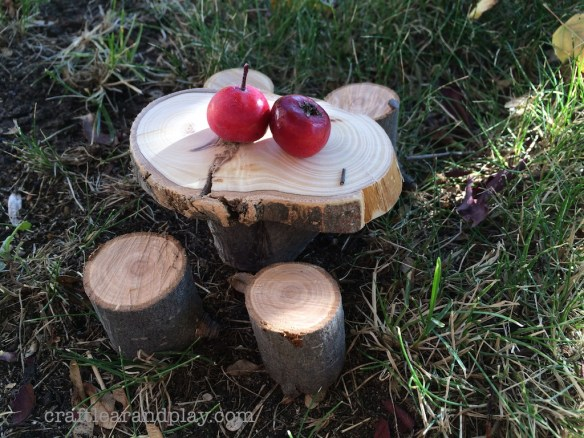 Fairy Garden Table Made of Wooden Blocks