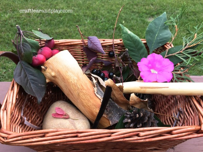 autumn basket from walk