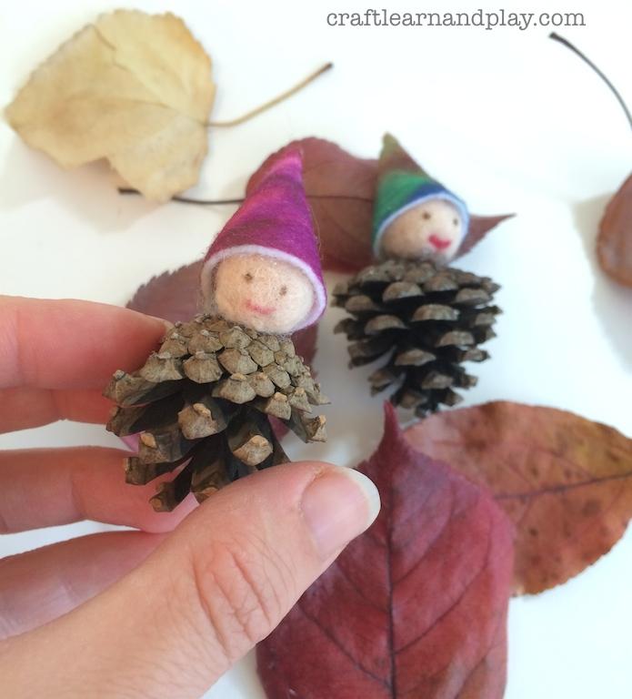Autumn Felt Pinecone Gnomes