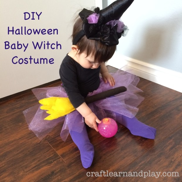 DIY Baby Witch Haloween Costume