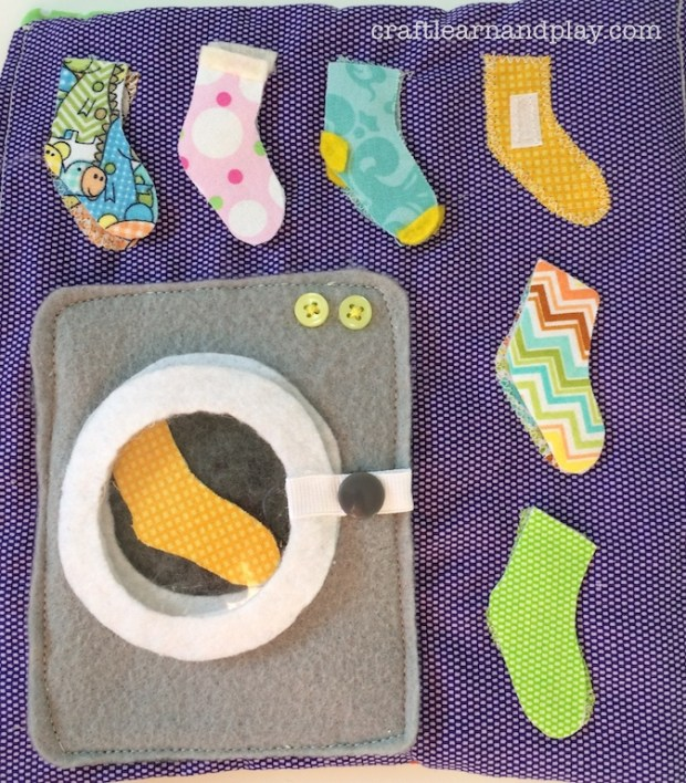 Laundry Matching Socks Quiet Book Page