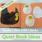 Quiet Book Patterns and Ideas – Mother Hen With Chicks