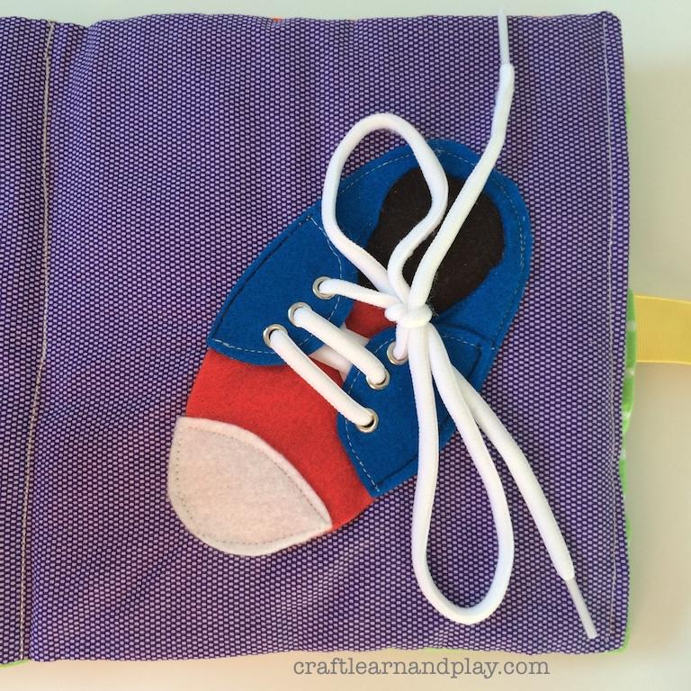 Shoe Lace Quiet Book Page