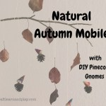 Natural Autumn Mobile with DIY Pinecone Gnomes