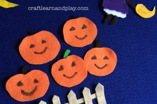 pumpkins halloween felt board story