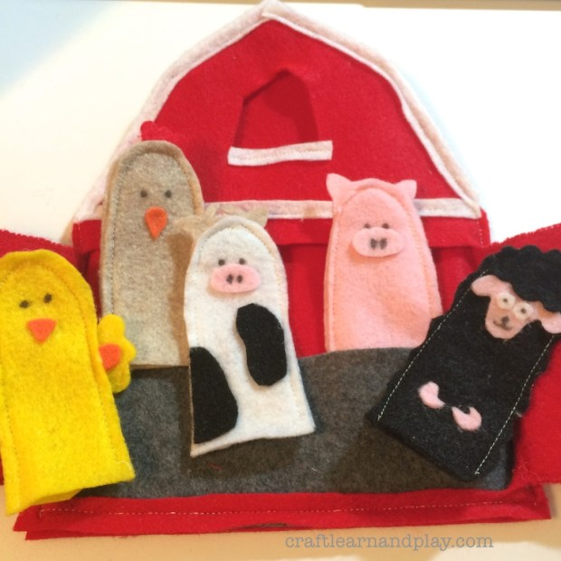 Finger Puppets in Barn inspired by Old McDonald