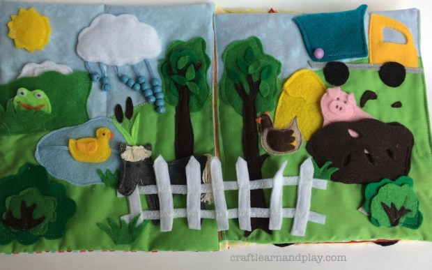 Peekaboo Farm Animals Quiet Book Page