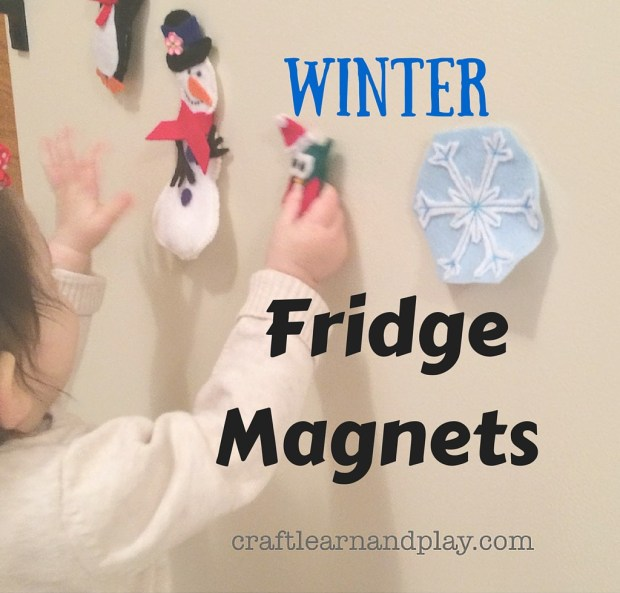 winter fridge magnets for kids play