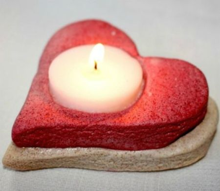 heart candle holder diy