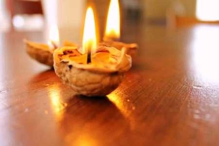 Gorgeous walnut candle