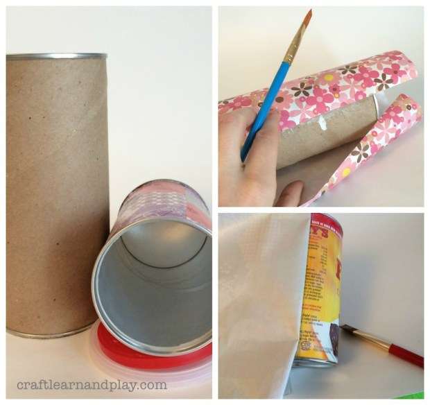 DIY Dropping toy out of old canisters