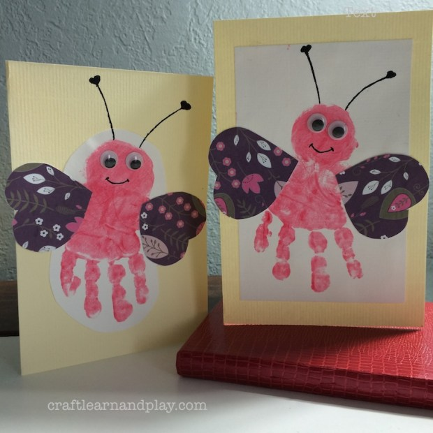 Valentine Handprint Cards Gift for Grandparents