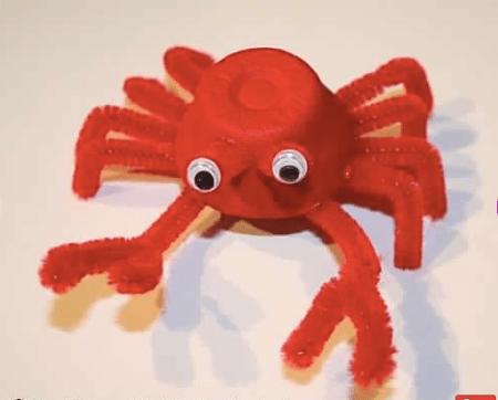 egg cartoon crab