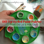 How To Make Paint Palette Made Of Milk Caps