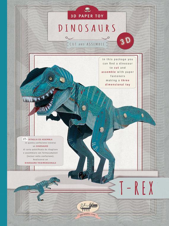 laminated-paper-t-rex-dinosaur