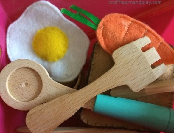 wooden and felt toys