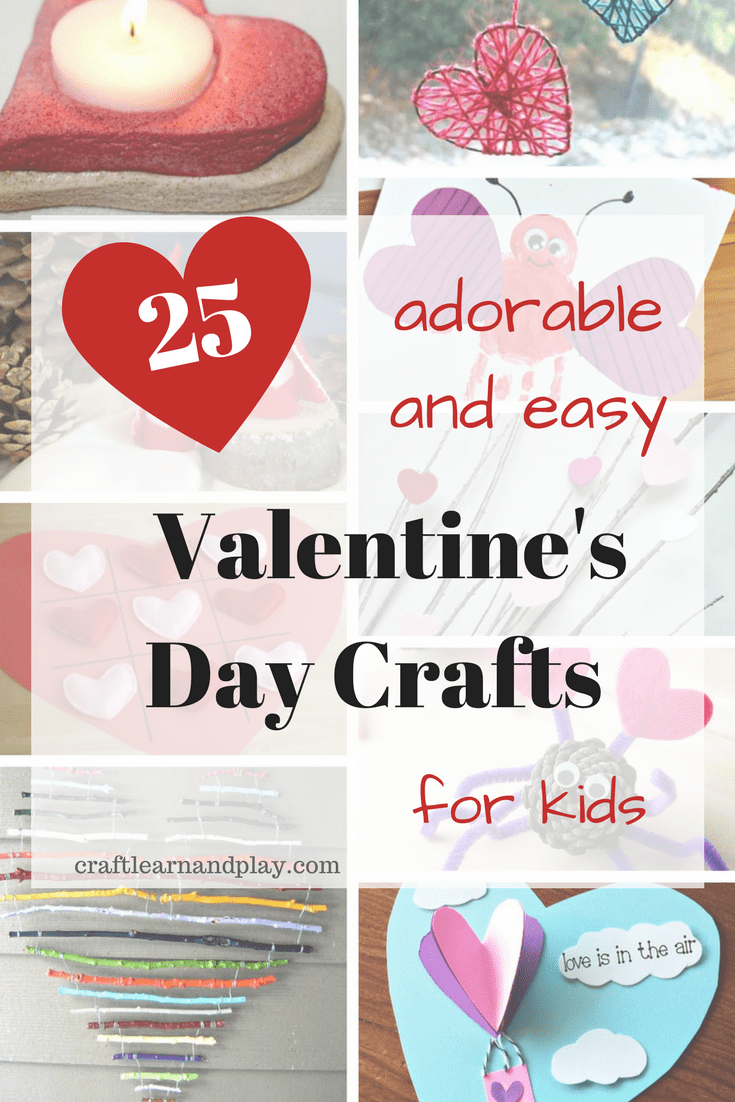 Adorable and easy valentine's day crafts for kids - valentine gifts made by kids - valentine kids crafts - kids activities - valentine