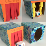 Easy Crafts: How To Make A Tissue Box Toy Car Wash