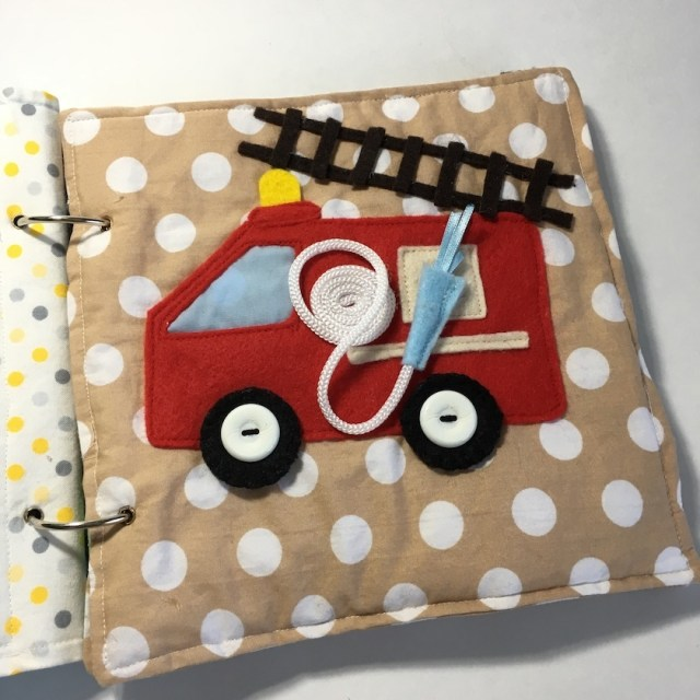 Fire truck quiet book page
