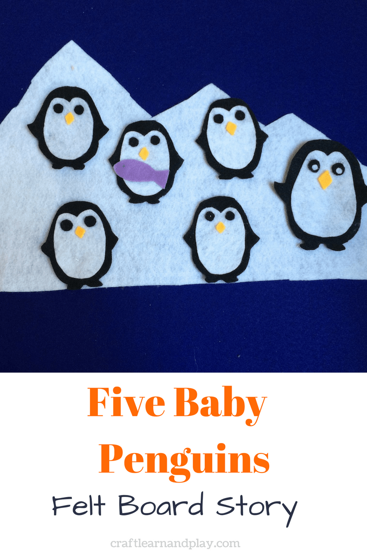 Five Baby Penguins flannel board stories