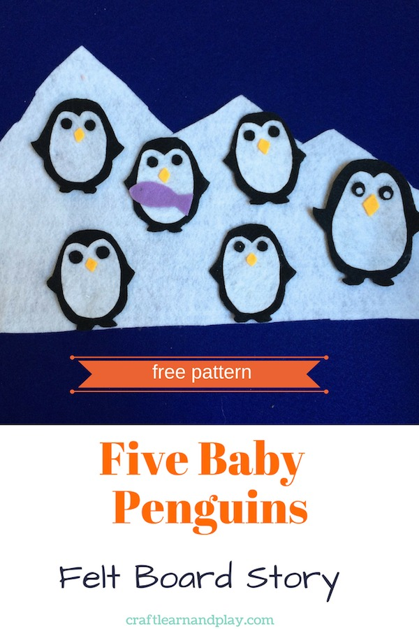 DIY flannel board stories for kids. Make one for your kids with free template. Flannel board stories are good for learning and great tool for story time. Click for free PDF pattern. #feltboard #flannelboard #penguins #kidsactivities #storytime #feltpenguin #pattern #PDF