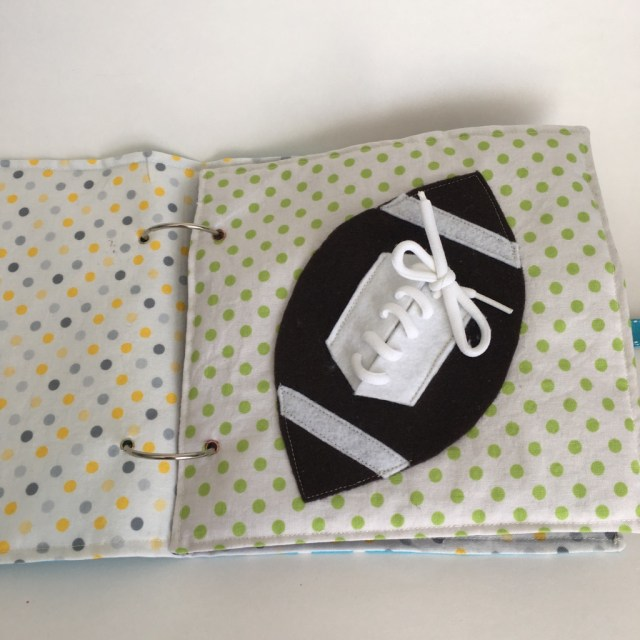 Football ball lacing activity quiet book page [Sewing pattern & Instructions]