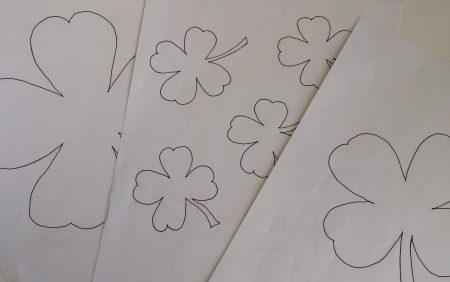 shamrock free printable -kids crafts