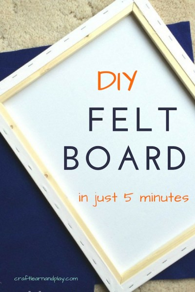 Super easy to make flannel board that will give you opportunity to teach your kids through stories and fun rhymes. This kids felt board is easy project for every busy mama. Click for instructions.