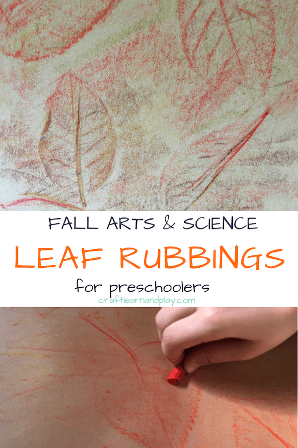 Rubbing leaves fall art projects for kids. With no prep time required, collect some leaves from nature walk, take out crayons and you are all set for this simple fall arts for toddlers and preschoolers. Click to see more details. #fall #autumn #arts #crafts #naturecrafts #leaves