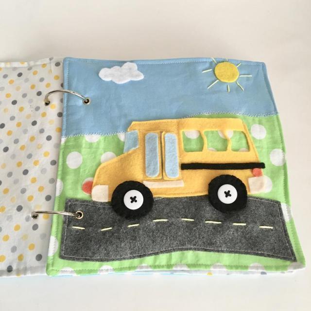 school bus quiet book pattern